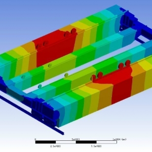 YZ240t四梁铸造起重机有限元分析 finite element analysis of YZ240t type casting cr ...