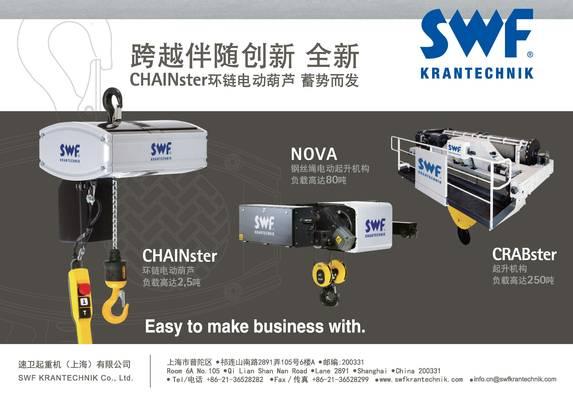 科尼SWF集团是起重设备制造商和服务供应商,致力于为制造行业、造船厂和港口,以其提高生产率而提供先进的起重解决方案和服务。我们拥有各种资源、技术并且有信心为客户做出保证帮助您提升您的业务。 服务 为各品牌起重机、港口设备以及机床提供维护服务和解决方案。 设备 业务领域设备为各类客户提供预先设计的部件,起重机,各种物料处理解决方案。这些设施包括小型工作台,流程工业,核电行业,重负合工业搬运,港口业,联运码头,船坞和码头散料。
